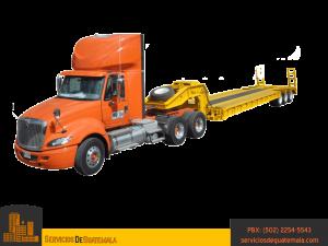 Camion-de plataforma abierta-trailer-tipos-de-transportes-de-carga-pesada-servicios-de-guatemala